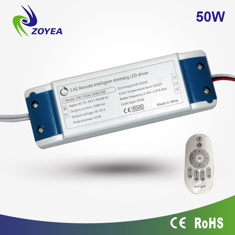 lowest price! wireless wifi dimmable led driver 50w conrolled by phone and controller