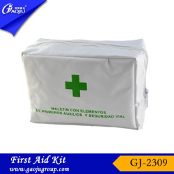 GJ-2309 OEM Manufacture customer logo printed car road emergency kit