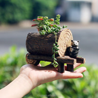 Resin mini pot garden decoration succulent plant pots wholesale