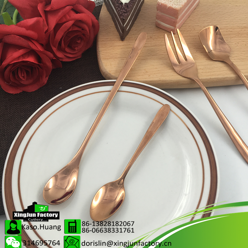 Unique Rose Gold Stainless Steel Ice Cream Spoon