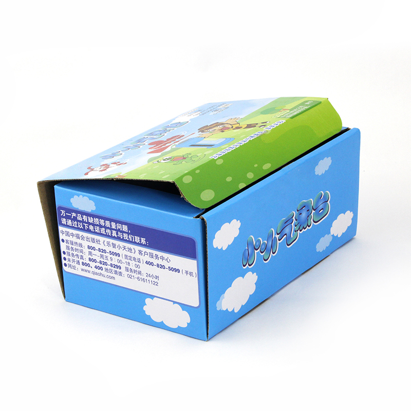 Full Color Printing Corrugated Paper Toy Boxes