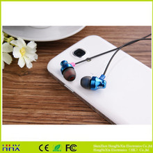 2017 High quality good looking flat cable earphone in ear best earphone for phone/laptop/MP3/MP4