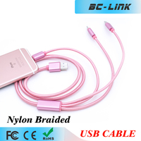 All in one usb data cable for ios and android system 3 in 1 charging cable metal head usb type c cable