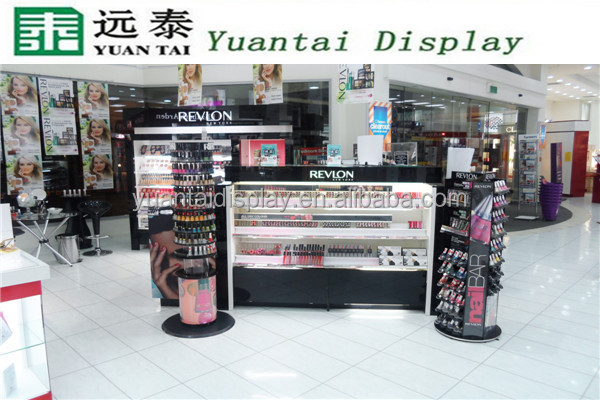 Shopping mall maquillage makeup cosmetic shelves