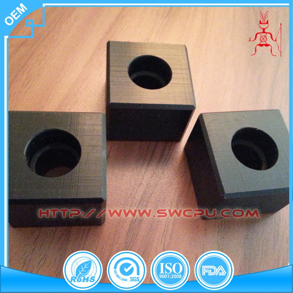 Machined CNC plastic square tube bushings