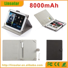 "Private Label table universal case charger 8000mah pu battery charger case 9-10"" 10.1"""