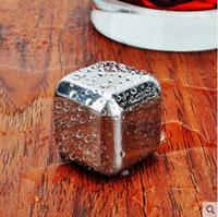 custom non melting ice cubes/Reusable Stainless Steel Whiskey Stones 8pcs Set