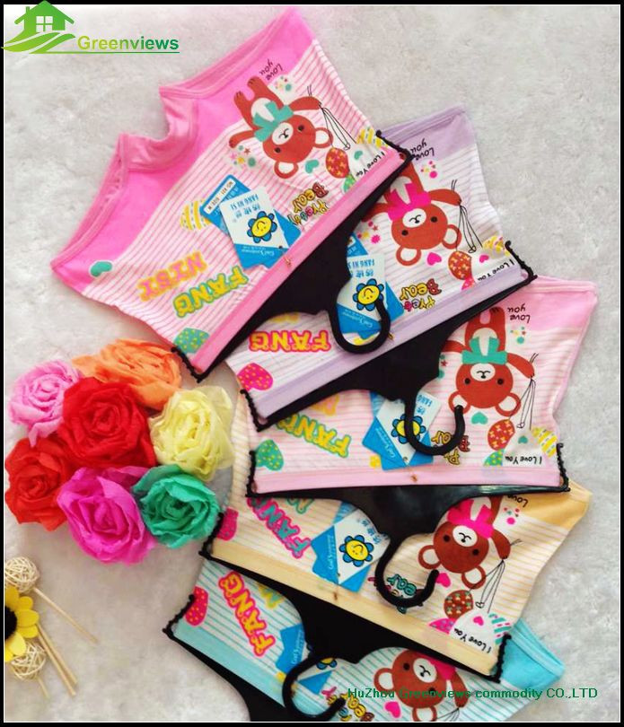 New fashion kids cartoon BAMBOO underwear,girlss boxers,kids underwear GVFR0016
