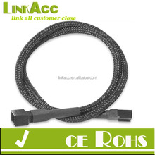 LINKJL Single Sleeve Braided fans 3-Pin Extension Cable 30 cm