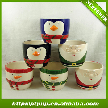 New products natural flower pot dolomite christmas decoration