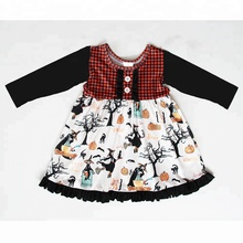 Wholesale Fashion halloween long sleeve <strong>Dresses</strong> pumpkin Party Baby <strong>Girl's</strong> <strong>Dress</strong>