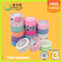 Free samples adhesivee tape baby blue color washi tape 10m tape
