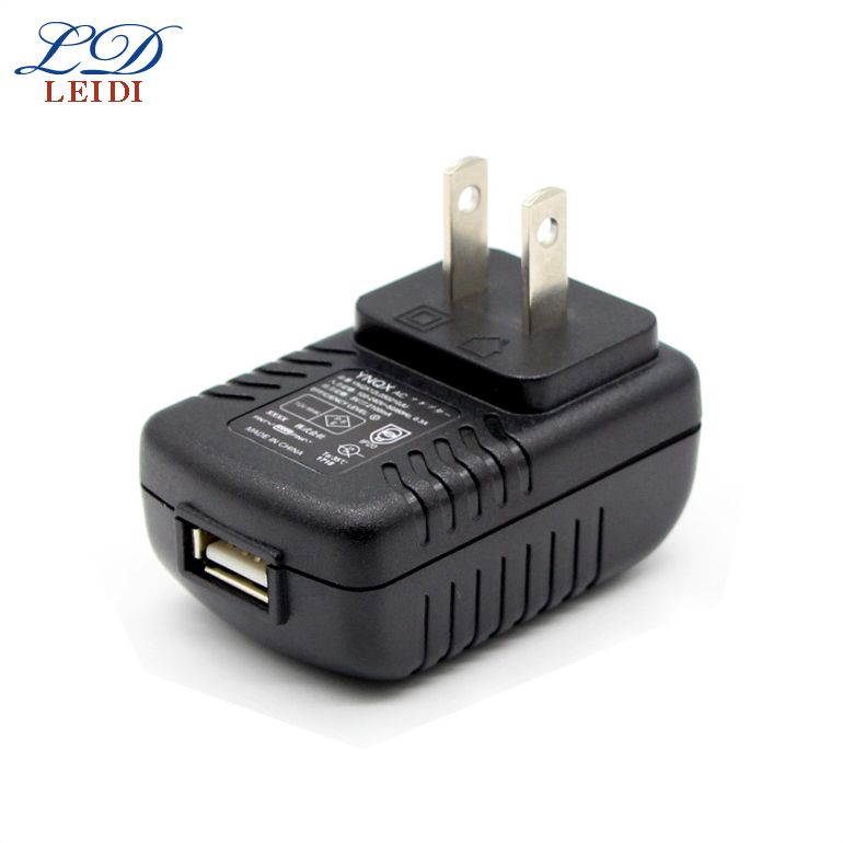 Universal Portable Travel Charger 7V 12V Ul ac dc Power Adapter 5V 2A 12W Usb Output Charger