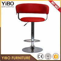 China factory direct supply commercial comfortable high end wood bar stools well designed pu swivel