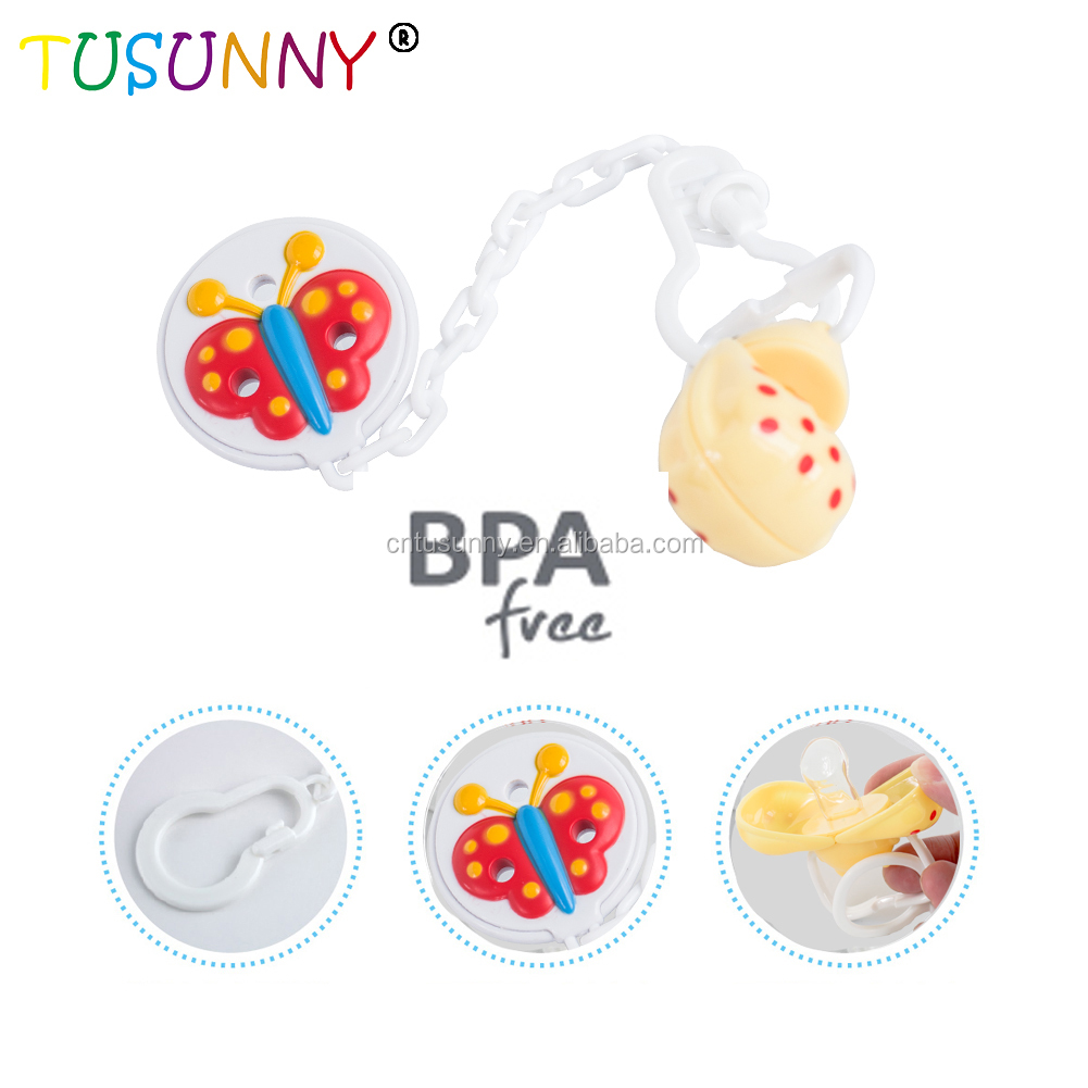 Wholesale Custom Logo Baby Pacifier With Pacifier Clip