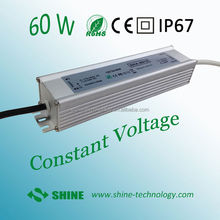 High quality CE EMC LVD RoHS dc 12v 5a 60w waterproof ip67 led switching power supply 12 volts 5 amps led accessories
