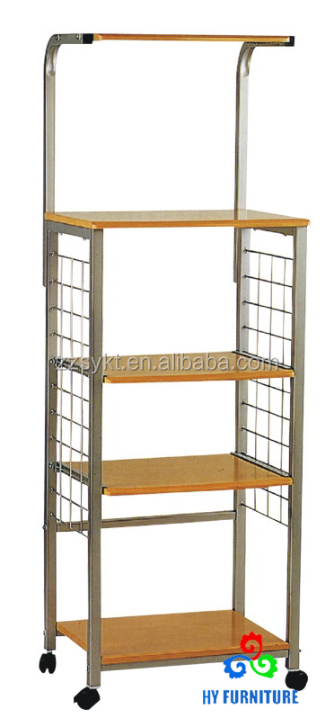 Kitchen microwave oven cart stand fruit vegetable storage racks wholesale