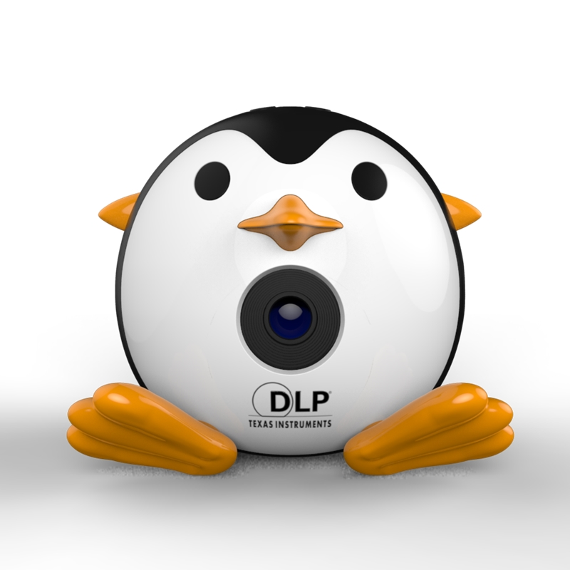 DLP LED Projector Q1 Penguin Pocket Projector HD 1080P portable projector