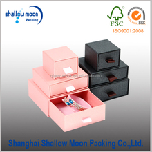 Decorative gift packaging ring earring necklace jewelry box with inside