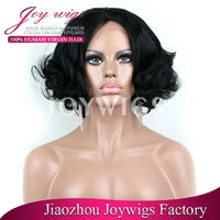 New style middle part fashion remy brazilian human short hair black men cut lace front wigs with baby hair