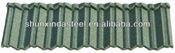 Corrugated stone metal roofing sheet, used in construction industry