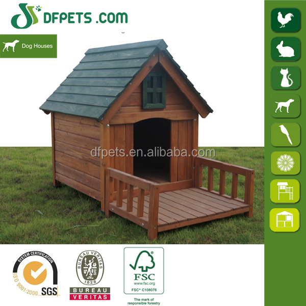 wooden dog house kennel