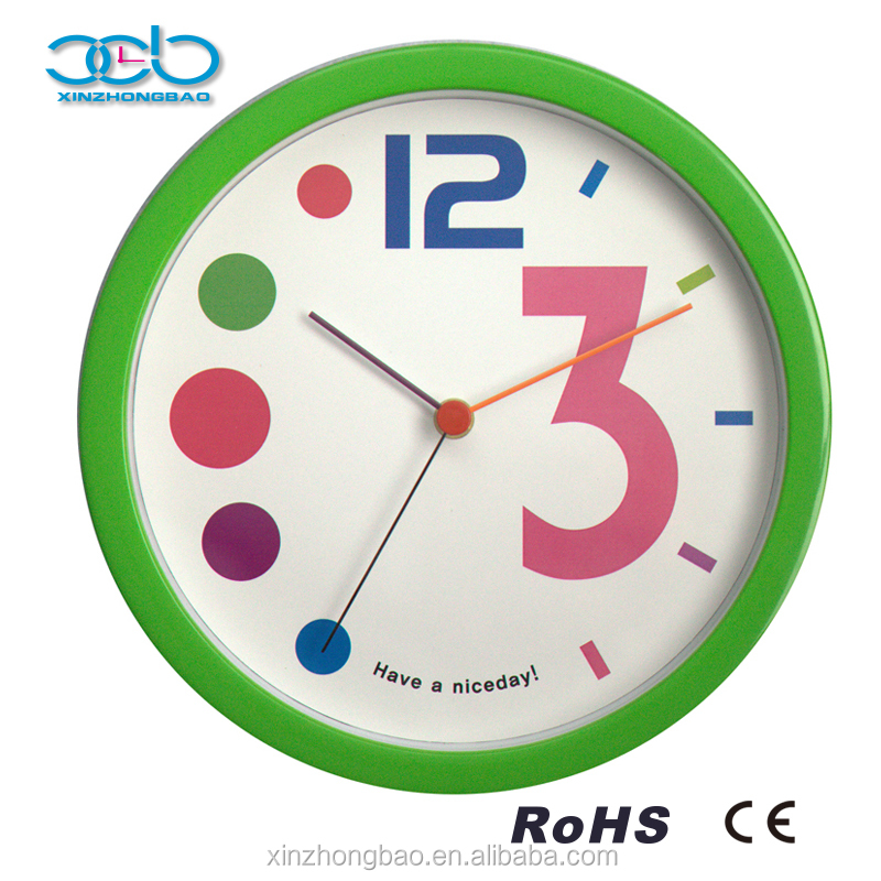 High Quality Multi-colour Quartz Kids Clock Pictures