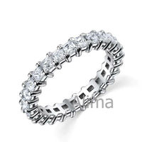 AER0004-3- Eternity Love Ring Bar Setting Diamonds jewelry casting supplies 14k Gold Purity 1.00ct diamond ring