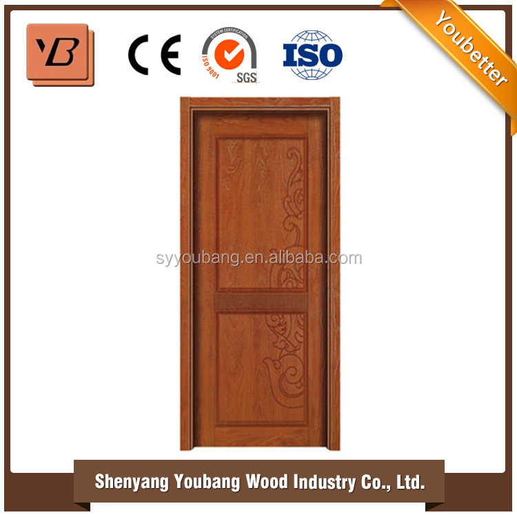 Chinese factory made wooden doors natural wood veneer door skin