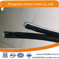 Aluminum Conductor XLPE insulation Duplex overhead ABC cable2*16mm2/2*25mm2/2*35mm2