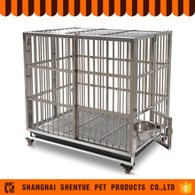 Low Price Indoor Stainless Steel Dog Cage With Wheels