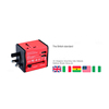 International universal travel adapter with 2 usb power charger adaptor