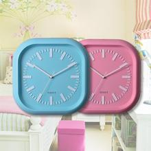 12inch 30cm diameter square photo frame wall clock for promotion!