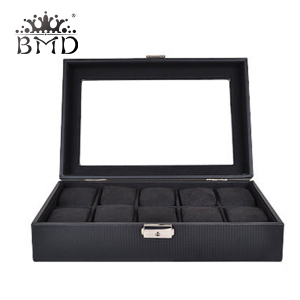 10 slots leather watch box men display storage boxes