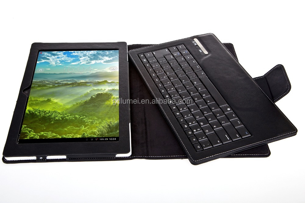Black Leather with Keyboard Built-In Stand kickstand case for 10 inch Sony Tablet Z