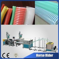 Horse Rider 20-50 mm Spiral Reinforced PVC Pipe Plastic Extruder Machine