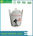 Custom printing logo white noodle paper boxes with lids