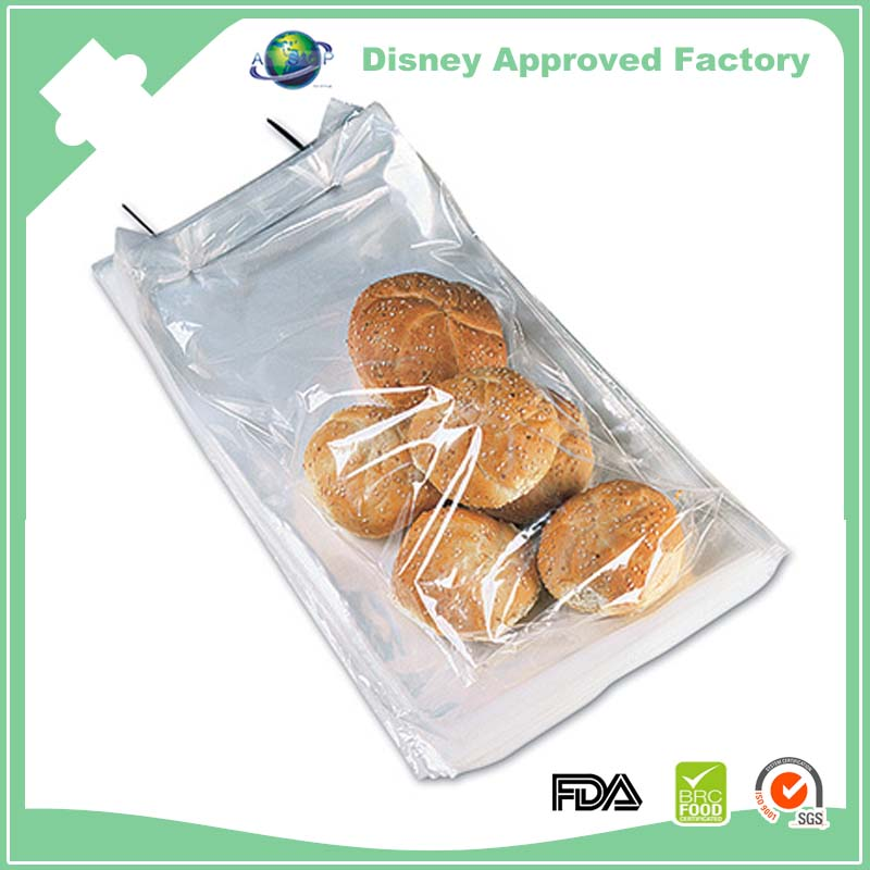 Clear plastic safe food grade donut packaging bag for wholesale