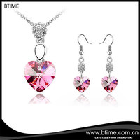 Wholesale Fashion Necklace And Earrings Heart