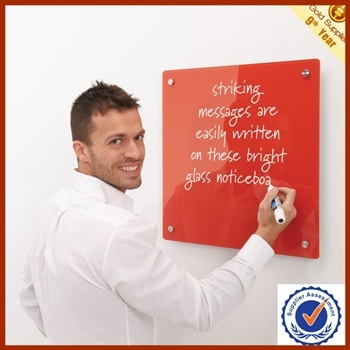 Colorful magnetic glass board notice board