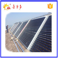 high heat absorbing three target solar evacuated glass tube solar pool collector