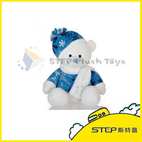 Professional Design Stuffed Plush Animal Toy Snow Bear for Christmas Decoration Supplies /Gift
