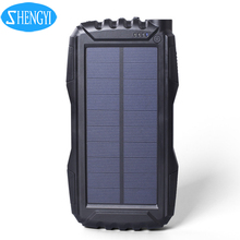 2016 portable 18650 daul usb 5v 1a 30000mah 20000mAh solar battery charger power bank