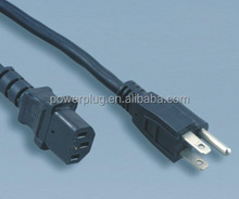 UL ac power cord NEMA 5-15P PLUG with C13 female male plug for computer printer