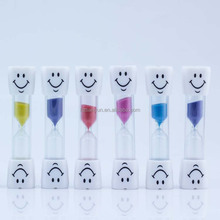 2 minute tooth shape plastic hourglass sand timer wholesale