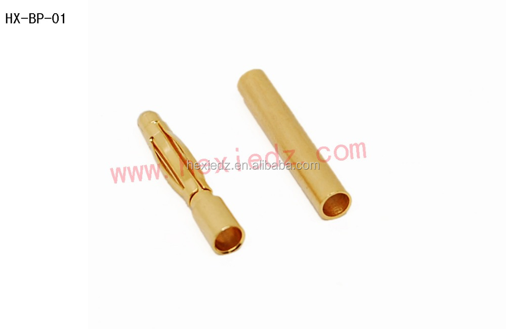 Electrical plug connectors 2mm bullet banana plug connector male and female
