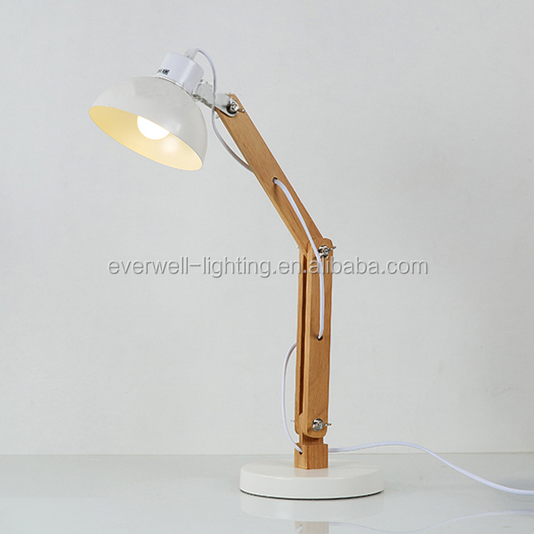 home decorative fancy led table lamp edison bulb Wooden table light