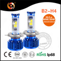 led h4 projector motorcycle headlight 30W 60W 3200lm 4900lm COB chip led car bulb IP68