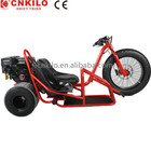 China CE approved Motorized Driving Type,Open Body ,196CC Drift Trike,3 fat wheel with 2 passenger seats,for Adults and Kids.