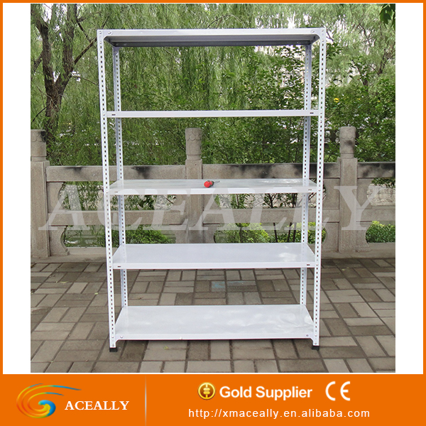 galvanized assembling pre drilled angle iron racking shelving for warehouse office